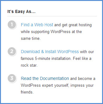 WordPress installation preview