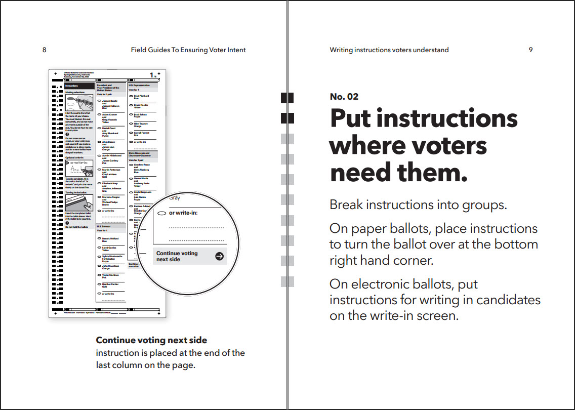 example voter instruction field guide pp 8 9