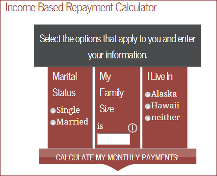 The IBR calculator