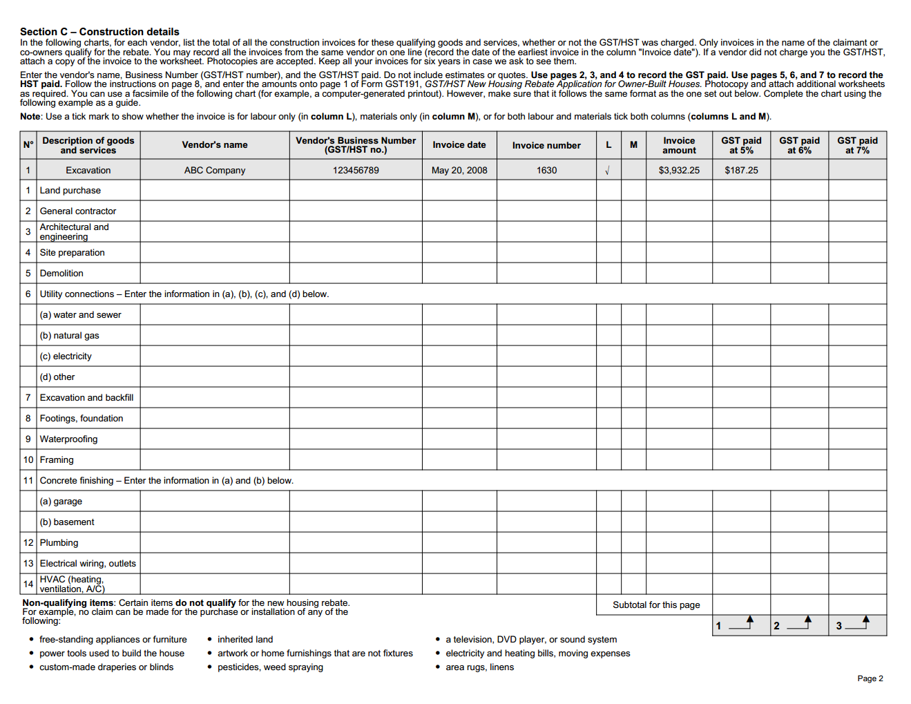 Workbooks text structure practice worksheets : Construction summary worksheet for new-housing tax rebate – Dave's ...
